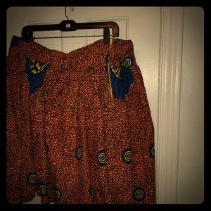 Dresses & Skirts - Ghanaian Wax Skirt
